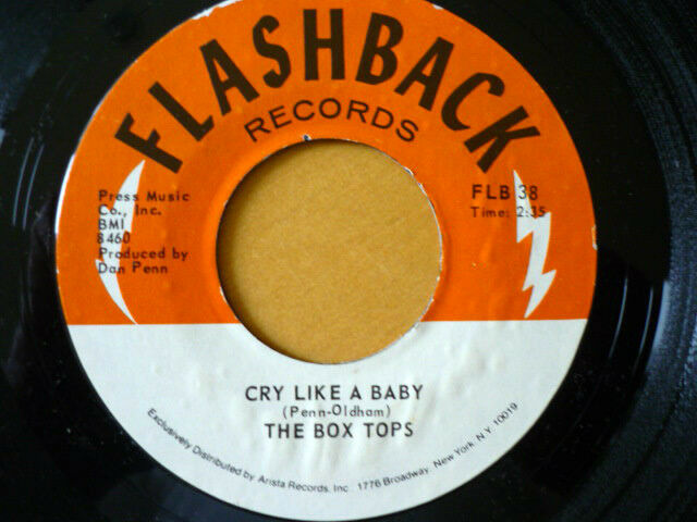 THE BOX TOPS = CRY LIKE A BAY / THE DOOR YOU CLOSED TO ME - USA IMPORT -EX VINYL