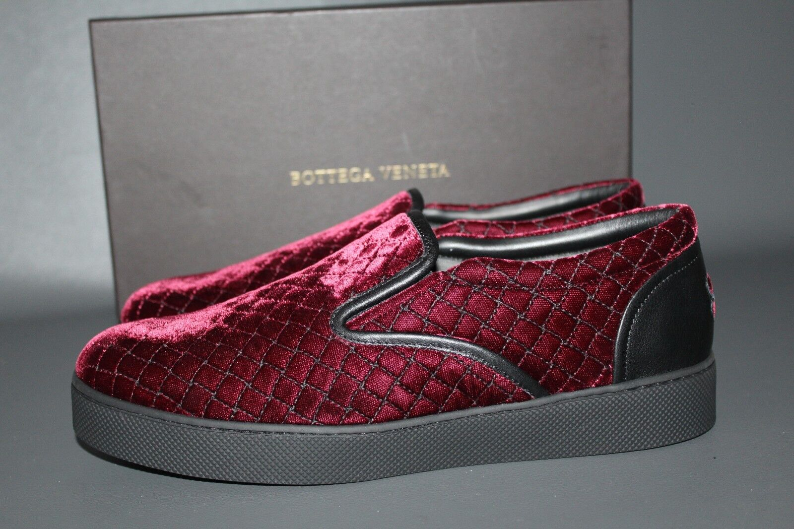 BOTTEGA VENETA Damen Schuhe Gr. 40 Slip On Sneaker Bordo Suede Made in Italy NEU