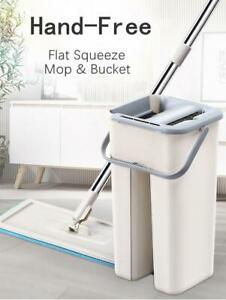Clever-Clean-Mop-Floor-System-Auto-Cleaning-Drying-2-Set-Rod-Free-hand-Wash