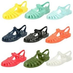9989926ebd39 Image is loading Ladies-Spot-On-Buckled-Jelly-Sandals
