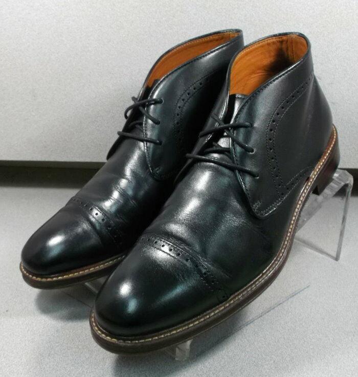 203875 WTBT 40 Zapatos de hombre M Negro Cuero botas Johnston Murphy Walk prueba