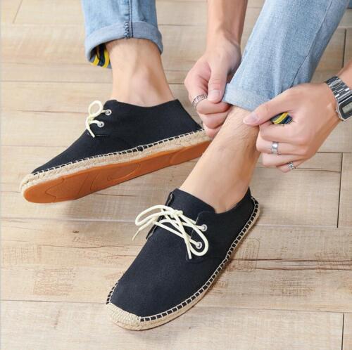 new Mens Casual Flat Lace up Espadrilles Canvas  Sneakers Pumps Shoes
