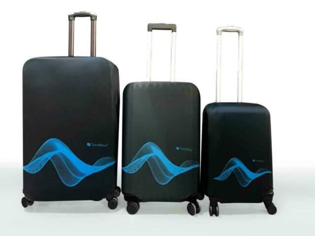 3c5d10afa0b9 Travel Blue Luggage Cover Washable Suitcase Baggage Protection Protective  Wrap