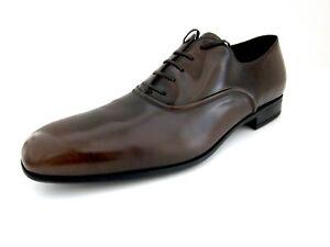 A imagem está carregando Salvatore-Ferragamo-Dunn-Masculina-Marrom-sapatos- Oxford-D- bc06f4a941