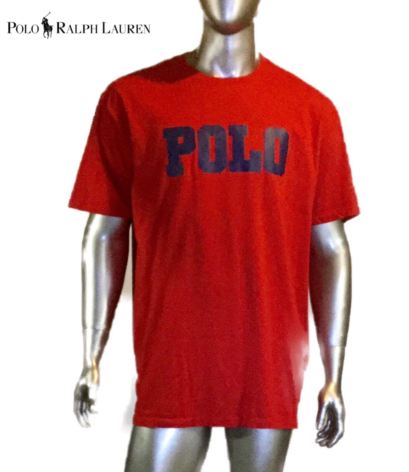 Vtg 27.4ms Polo Sport T-Shirt Spellout Logo Herren Größe XL, Rot