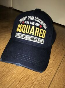 ff60e935054568 Image is loading Dsquared2-Cap-Navy-Fight-For-Freedom