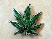 Marijuana Leaf Shaped Belt Buckle - Cannabis Weed Pot