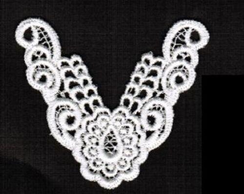 "Adorable Venice Lace Applique Craft Custom Jewelry 2-3//4/"" Doll  #2065 6pc"