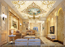 3D Mural Floral Religion Ceiling Mural Self-adhesive Removable Wallpaper 248