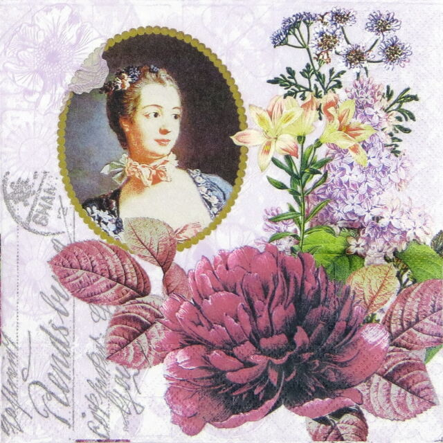 4x Paper Napkins for Decoupage Decopatch Madame Pompadour
