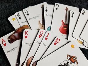 PRS Paul Reed Smith Guitar Poker Playing Cards Santana 513 Modern Eagle