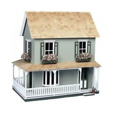 Doll House Kit Victorian Country Cottage Girls Dollhouses Crafts Wood Great Gift