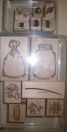 Retired Stampin Up Sets ALL WRAPPED UP ALL WRAPPED UP ACCESSORIES Rubber Stamp