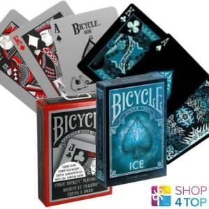 2-DECKS-BICYCLE-1-TRAGIC-ROYALTY-UND-1-ICE-SPIELKARTEN-MADE-IN-USA-NEU