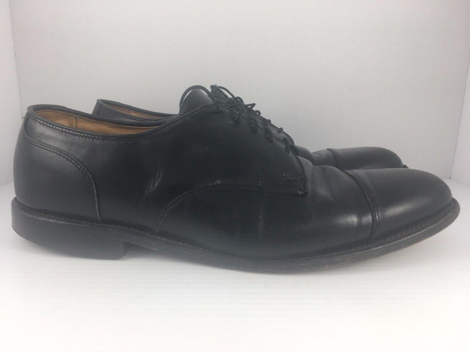 Allen Edmonds Cortland Black Oxford Size 10.5 D Made USA