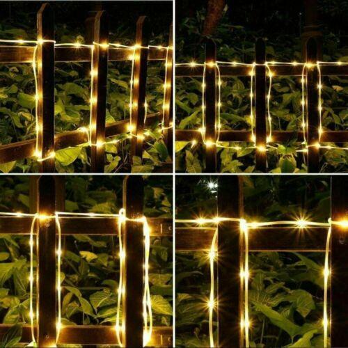 220V LED String Fairy Lights PVC Tube Light Lamp Fence Garden Porch Waterproof
