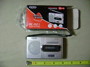 Indin BC-R21 AM/FM Receiver Mini Radio (NEW) Slim Pocket Compact Portable Small