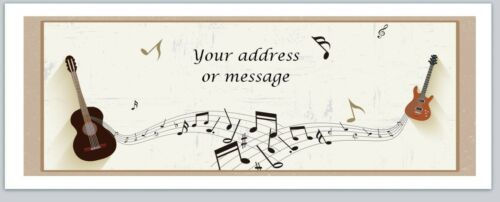 Personalized Address Labels Guitar Music notes Buy 3 get 1 free bo 768