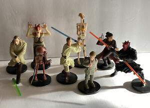8 Star Wars Vintage Applause 1999 Star Wars Figurines On Stands Collectables
