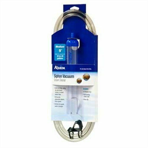 """Aqueon Medium Siphon Vacuum Aquarium Gravel Cleaner, 9"""""""