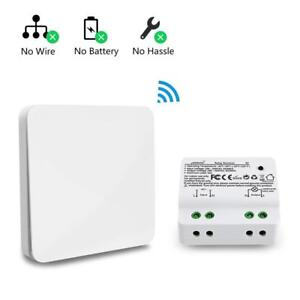 Details about Wireless Wall Switch Self-powered Kinetic Switch No Wiring on