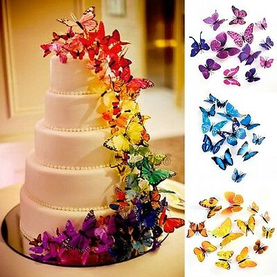 3D Butterfly Sticker Art Design Decal Wall Stickers Home Room Decorations,12pcs
