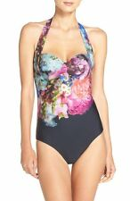 Ted Baker London Focus Bouquet One-Piece Swimsuit Sz 34 DD/E NEW $149.00