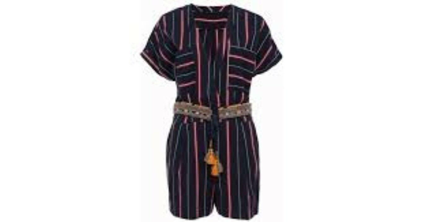 French Connection bluee Hasan Stitch Playsuit Size LF085 CC 03