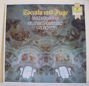 "33T TOCCATA FUGE Disque LP 12"" BACH ORGELKLANGE Karl RICHTER -GRAMMOPHON 2535611"