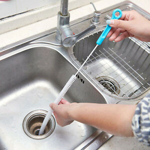 71cm Bendable Overflow Sink Drain Unblocker Cleaning Brush Cleaner ...