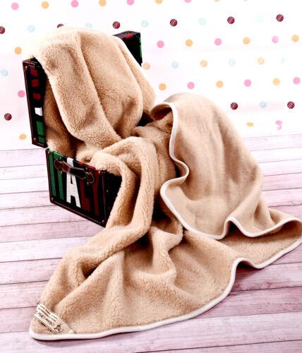 toutes tailles Woolamrked mérinos pure laine couverture//plaid 100/% naturelle
