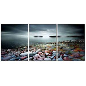 3 Panels Canvas Print Home Decor Ocean Zen Wall Art Nature Framed 12x16in