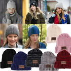 Fashion Warm Winter Women Men Braided Baggy Knit Crochet Beanie Hat Ski Cap