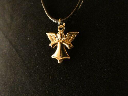 Engel Anhänger mit Kette 24 Karat Vergoldet Angel Himmel Liebe Glück Frieden