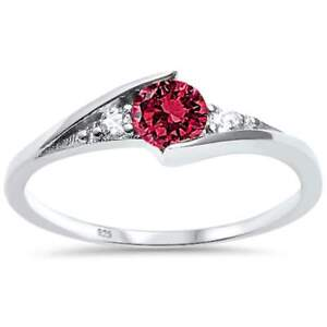 New-Round-Ruby-Solitaire-Fashion-925-Sterling-Silver-Ring