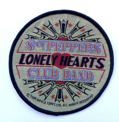 BRAND NEW 9cm SEW ON PATCH SGT PEPPER THE BEATLES