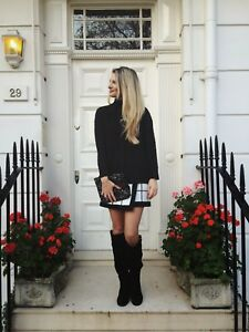 Karen-Millen-KZ096-Twist-Cable-Knitted-Sweater-Pullover-Jumper-Long-Top-S-10-38