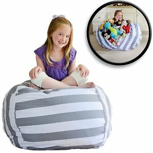 Extra-Grande-Filled-and-Sit-Cover-Puff-for-Storage-Plush-Grey-New