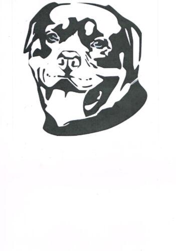 "Rottweiler 190m durevole MYLAR riutilizzabile Stencil-circa 6 x 6/"""