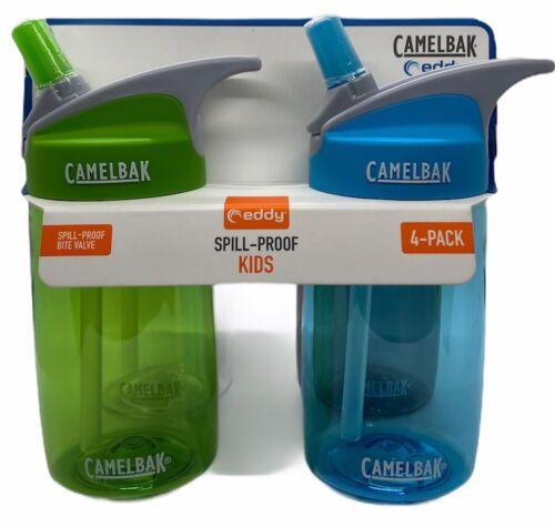 CamelBak Eddy Spill Proof Bite Valve Kids Water Bottle Boys Blank **4 PACK**