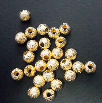 Stardust Spacer Rose Gold Plated Bead Round 4mm Finding Jewelry Making Supplies