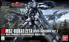 Gundam 1/144 #182 HGUC MSZ-006A1 Zeta Plus Unicorn Version Model Kit Bandai