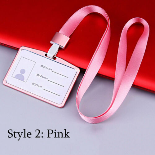 Multi colored Metal ID Business Case Name Card Aluminum Alloy Work Card Holders