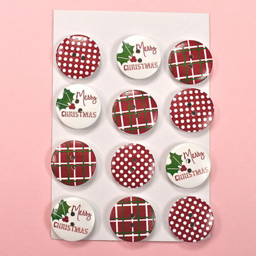 HOLIDAY BUTTONS Wooden Christmas 2043 Dress it Up Buuttons Galore