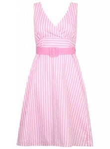 Ladies-Dress-Cotton-Summer-Tayberry-Hepburn-Vintage-Holiday-New-Womens-Striped