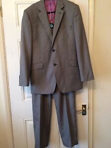 Mens Austin Reed Grey Jacket 40r And Trousers 30r Formal Smart Wedding Work B3 Ebay