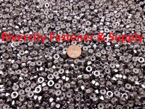 Nuts Nylocks 18-8 Stainless Steel #4 Stop 4-40 Nylon Insert Lock 100
