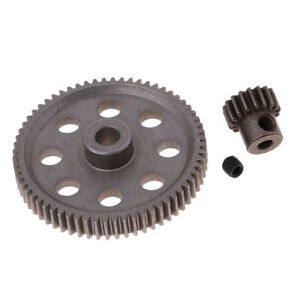 Details about 1/10 RC Car Models Upgrade Parts 64T 17T Diff/Motor Gear Set  for HSP 94111
