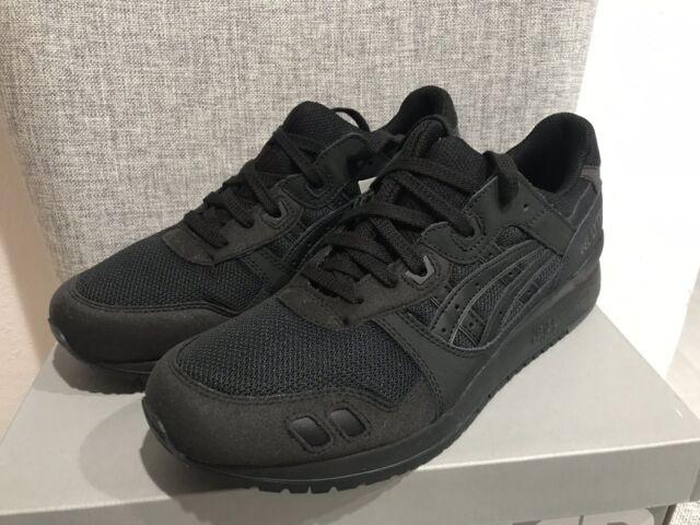 meet 4a20d d8d09 Asics Tiger Gel-lyte III 3 Running Shoe Triple Black Leather Sz 10.5  H7n3n-9090