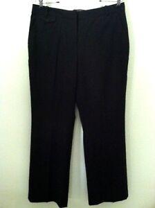 Størrelse 110 Strech Uld Nye Pant Petit Bukser Klasse Sort Slack 10 Kvinder Talbots x60x8p